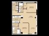 B2 Floor Plan   2 Bedroom with 2 Bath   1074 Square Feet   McKinney Uptown   Apartment Homes