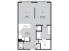 Ashcat Floor Plan | Studio with 1 Bath | 663 Square Feet | Alexan Optimist Park | Apartment Homes