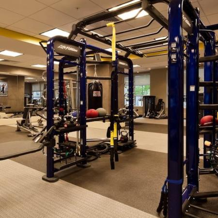 Weight and Cardio Equipment in Fitness Center | Modera Douglas Station
