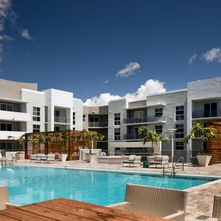 Pool and Outdoor Lounge Area | Modera Douglas Station