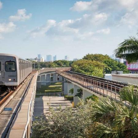 Steps to the MetroRail | Modera Douglas Station