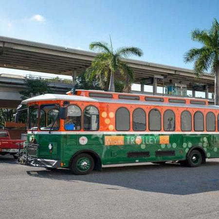 On Block to the Coral Gables Trolley