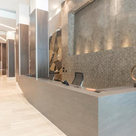 Concierge Desk in Lobby Entrance