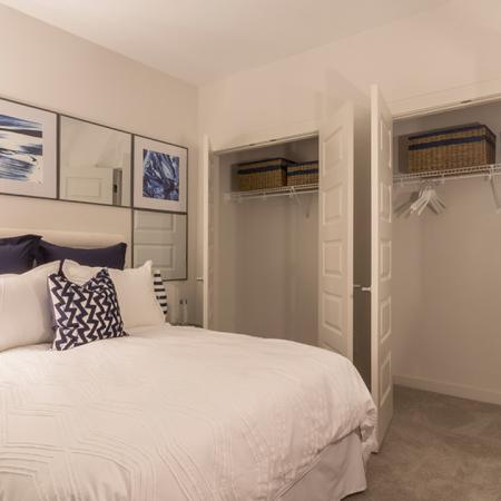 Bedroom with Double Closets