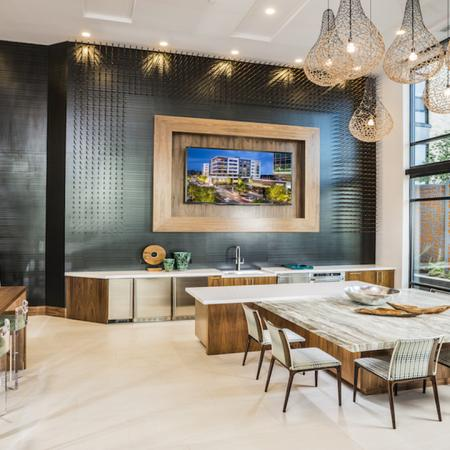 Clubhouse Entertainment Kitchen and Dining Area | Modera Mosaic