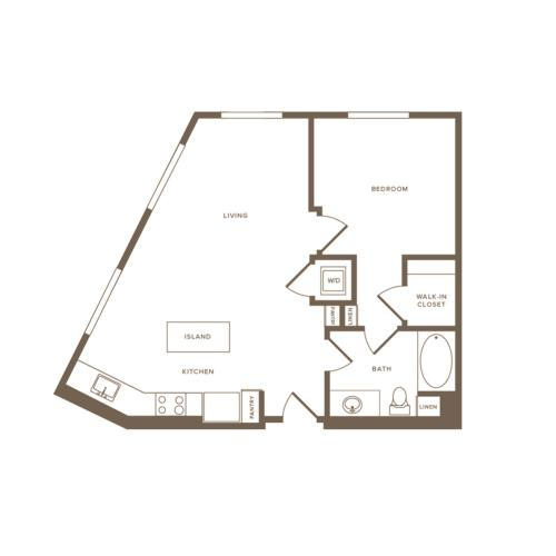 716-814 square foot one bedroom one bath floor plan image