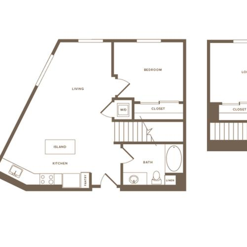 852 square foot one bedroom one bath floor plan image