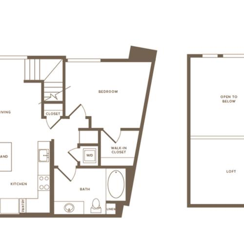 848 square foot one bedroom one bath floor plan image