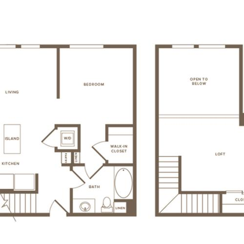 894 square foot one bedroom one bath floor plan image