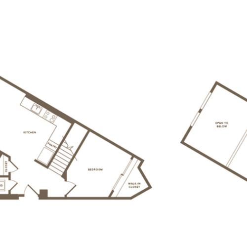 1110-1117 square foot two bedroom one bath floor plan image