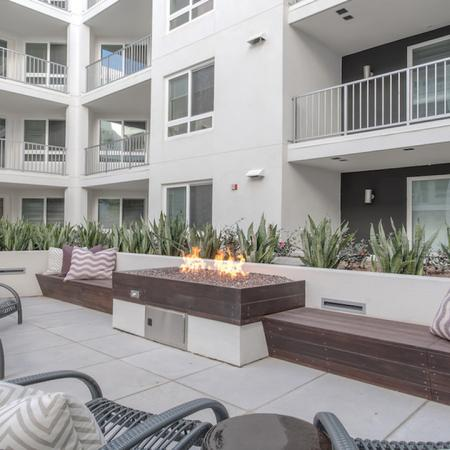 Fire Table in Outdoor Lounge | Modera Glendale