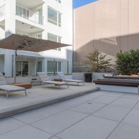 Sundeck and Outdoor Fire Table | Modera Glendale
