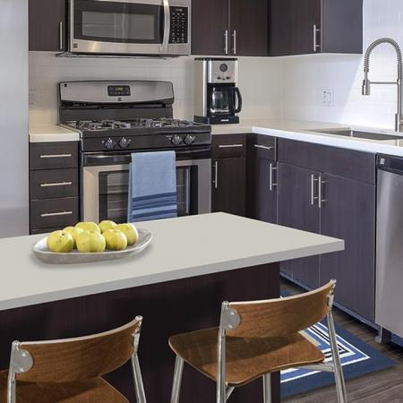 Modern Kitchen with Quartz Counters, Stainless Appliances and Luxe Finishes| Modera Glendale