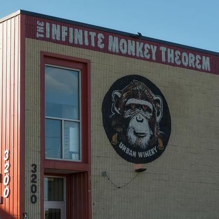 Exterior of local establishment The Infinite Monkey Theorem