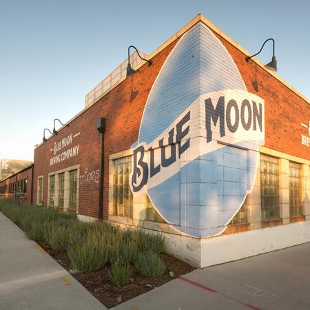 Exterior of local establishment Blue Moon
