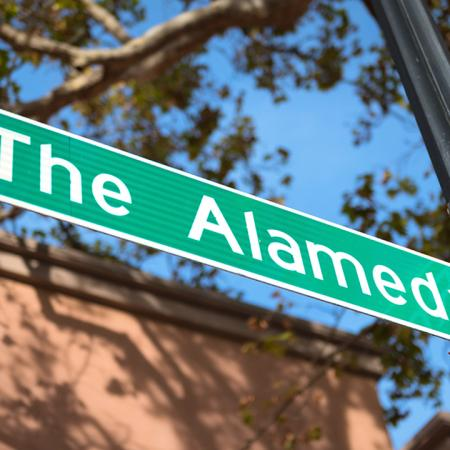 Street sign reading The Alameda