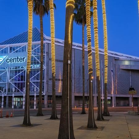 SAP Center during the evening