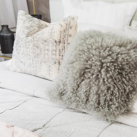 Model Home Bedroom Throw Pillows