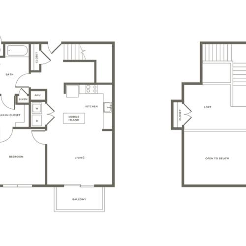 1 Bdrm Floor Plan A1L | Modera Needham | Apartments Needham MA