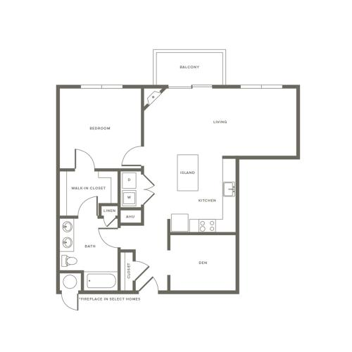 Floor Plan A3D | Modera Needham | Apartments Near Needham MA