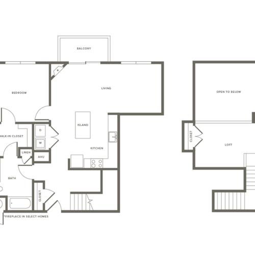 Floor Plan A3L | Modera Needham | One Bedroom Apartments in Needham MA