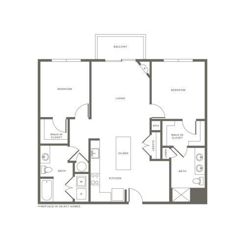 2 Bedroom Floor Plan | Modera Needham | Apartments for Rent in Needham