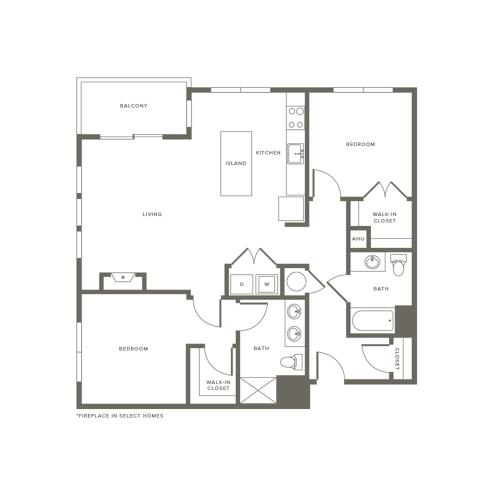 Floor Plan B2 | Modera Needham | Apartments Needham MA
