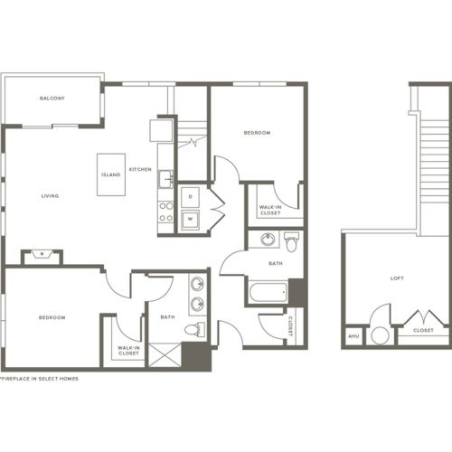 Floor Plan B2L | Modera Needham | Apartments for Rent in Needham