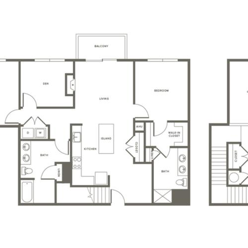 Floor Plan B3DL | Modera Needham | Needham Massachusetts Apartments