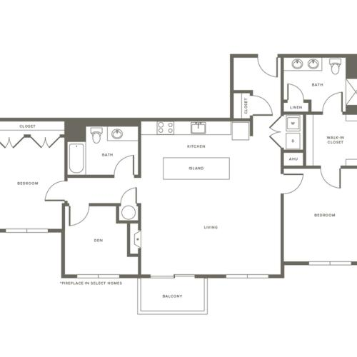 Floor Plan B5D | Modera Needham | Apartments Near Needham MA