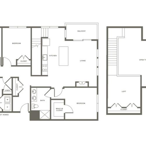 3 Bdrm Floor Plan C1L | Modera Needham | Apartments Near Needham MA