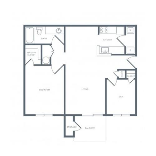 Floor Plan 1 | Columbia MD Apartments | Alister Town Center Columbia
