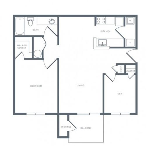 Floor Plan 2 | Apartments Columbia MD | Alister Town Center Columbia