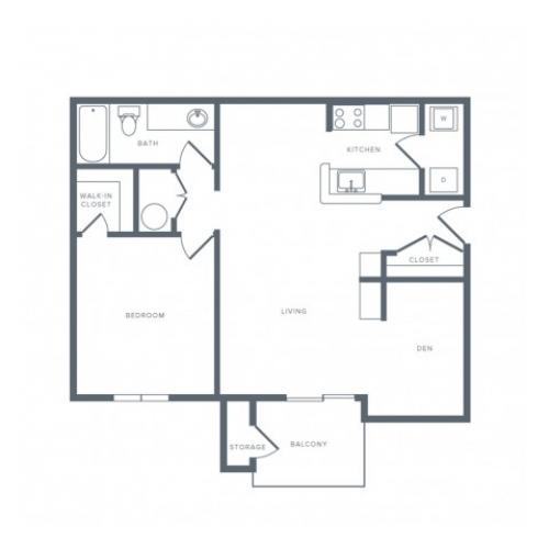 Floor Plan 3 | Apartments in Columbia MD | Alister Town Center Columbia