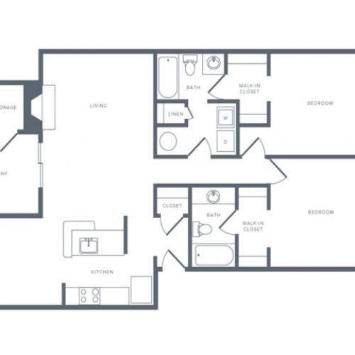 Floor Plan 6 | Columbia MD Apartments | Alister Town Center Columbia