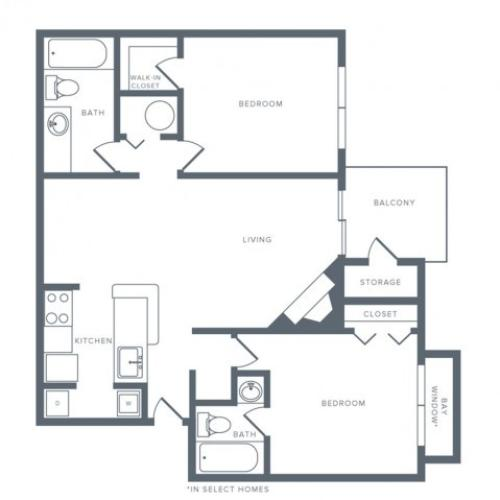 Floor Plan 7 | Apartments Columbia MD | Alister Columbia