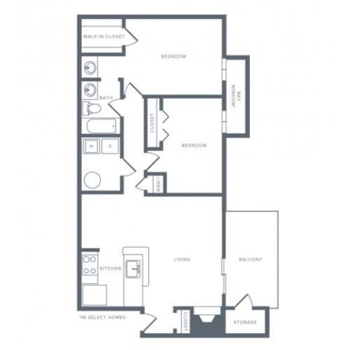 Floor Plan 10 | Columbia MD Studio Apartments | Alister Columbia