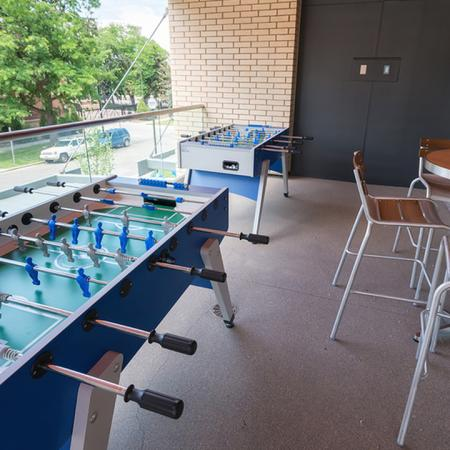 Fooseball Tables on our Party Pod Balcony | Modera Observatory Park