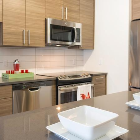 Kitchen Islands and Stainless Steel Appliances | Modera Observatory Park