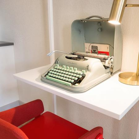Workspace with Vintage Typewriter| Modera Observatory Park
