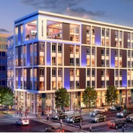 MODERN ON M building exterior– a uniquely, sophisticated living experience in the heart of D.C.
