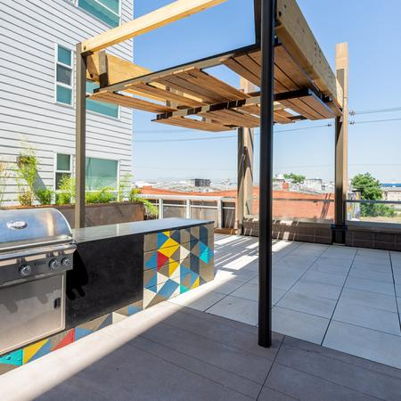 Outside grilling area with covering
