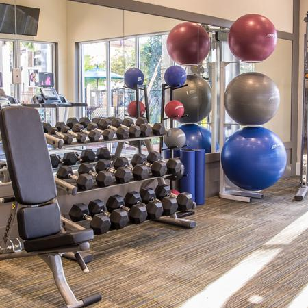 State of the art fitness center offering free weights and machines