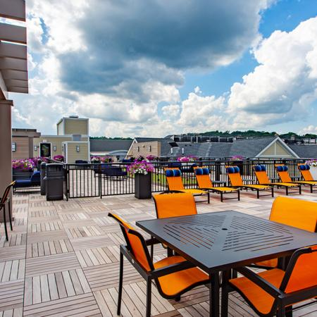 Expansive 7,000 Square Foot Rooftop LoungeGigantic rooftop area for community gatherings Modera 55 | Apartment Homes | New Jersey
