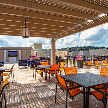 Expansive 7,000 Square Foot Rooftop Lounge Modera 55 | Apartment Homes | New Jersey