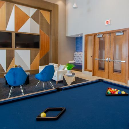 Resident's Lounge with Televisions and Pool Table