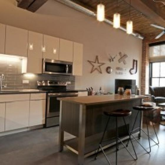 Apartment kitchen interior image
