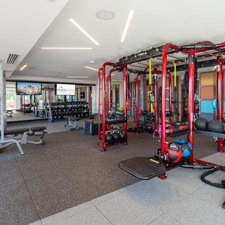 Club-quality fitness studio with the latest in cardio and strength equipment