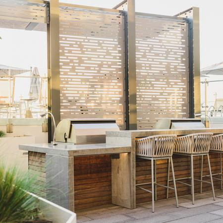 Roof Top Grilling Area with Bar Seating