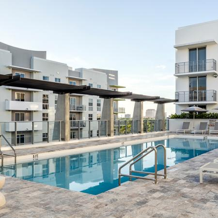 Rooftop, Hotel-Inspired Pool Area with Chaise Loungers